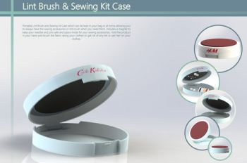 Lint Brush And Sewing Kit Case